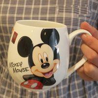 Wholesale Porcelain Mice - 2017 Hot Sale Cartoon Mug Mickey Mouse Minnie Ceramic Cups Milk 420ml Creative Fashion Couples Mug Coffee Water Cup Cute Breakfast Cup