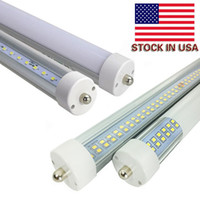 Wholesale Hot Cold Foot - Wholesale Hot! New Double rows LED tube light FA8 8FT 72W fluorescent lamp T8 tube AC85-265V 2400mm 8 feet tube high lumen cheap