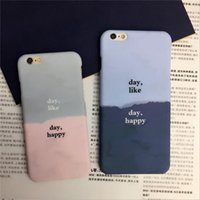 Wholesale Hard Shell Jacket - Fashion 20pcs Japanese day day 6S water jacket mobile phone shell 6plus frosted protective cover gradual hard shell