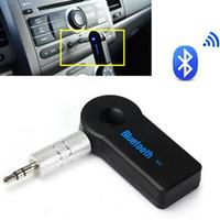 автомобильный bluetooth сотовый телефон handsfree оптовых-Универсальный беспроводной Bluetooth музыкальный приемник Handsfree 3.0 Audio Stereo Speaker 3.5 мм Handsfree Music Adapter для автомобильных наушников MP3 Сотовый телефон