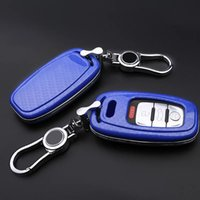 Wholesale Carbon Fiber Key Case - Carbon fiber Car key cover case for Audi A3 A4 A5 A6 A7 A8 Car Key Case Shell