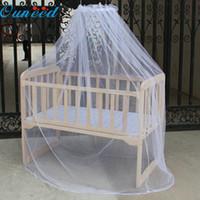 net baby cots venda por atacado-Atacado-25 de maio Mosunx Negócios Hot Selling Baby Bed Mosquito Mesh Dome Cortina Net para berço da criança Cot Canopy