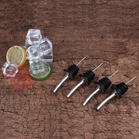Wholesale Rubber Wine Bottle Pourers - Liquor Spirit Pourer For Wine Bottle Spout with Rubber Stopper Stainless Steel Bottle Mouth Bottles Stoppers Express Free Shipping 1 15zy