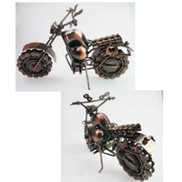 Wholesale Handmade Metal Motorcycles - Retro style iron Art Creative Handmade Motorcycle Model Toys Metal Motorbike Model Toy For Men Gift Home Decor, Large Size