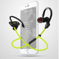 Wholesale Cell Phone Earpiece Ear Hooks - 1pc 56S Wireless Bluetooth Headphones Stereo Bass Earphones Sport Headset Ear Hook Earpieces Waterproof Earbuds With Mic