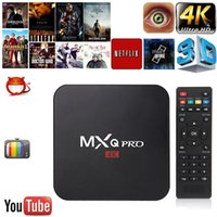 2GB RAM MXQ Pro Smart Android 6.0 Caixa de TV Rockchip RK3229 Quad Core Google Set Top Box Completamente carregado KD17.4 Krypton