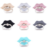 Wholesale Lip Shaped Phone - Universal 360 Degree Lip Shape Finger Ring Holder Phone Stand For iPhone 7 6s Samsung Huawei Mobile Phones