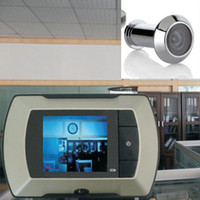 Wholesale door cameras monitor online - 2017 High Resolution inch LCD Visual Monitor Door Peephole Peep Hole wired Viewer Indoor Monitor Outdoor Video Camera