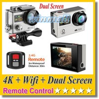 Wholesale camera full hd 12mp resale online - Original EKEN H3R K Action Camera Dual Screen Remote Control Wifi P FPS MP M waterproof Sport DV Cam