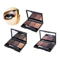 зеркало для макияжа макияжа оптовых-Wholesale-Hotselling Eyebrow  Eye Brow Palette Cosmetic  Shading Kit with Brush Mirror Minsu
