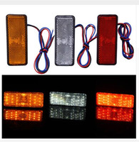Barato Levou Cauda Traseira Carro Caminhão-12V Car-Styling Universal LED Reflector Rear Tail Travão Stop Marker Light para Jeep SUV Camião Trailer Motorcycle Electric Cars