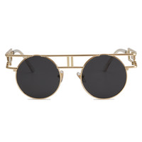 bfe6a87867 ROYAL GIRL Quality Metal Frame Steampunk Sunglasses Women Brand Designer  Round Men Gothic Sun glasses Vintage Eyeglasses ss211