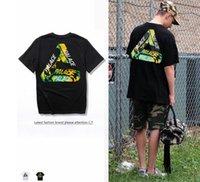 Wholesale Hip Hop Shit - fashion T-shit Men Women High Quality 100% Cotton Triangle LOGO vlong Tshirt Skateboards Hip Hop TEE YEEUS T-shirt