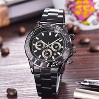 Wholesale Luxury Mens Watch Designer - relogio 11 masculino mens watches Luxury dress designer fashion Black Dial Calendar gold Bracelet Folding Clasp Master 2017 gifts couples