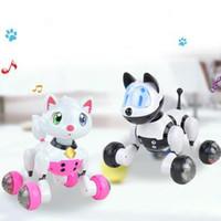 Wholesale Dancing Dog Toys - Voice Control Dog Cat Smart Robot Electronic Dog Cat Voice Control Pet Program Dance Walk Intelligent Pets Toy