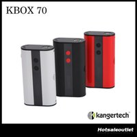 Wholesale Micro Loading - Authentic Kanger KBOX 70W VW TC Box Mod 4000mah Built in Battery Spring loaded 510 Connection Micro USB Charging Mod
