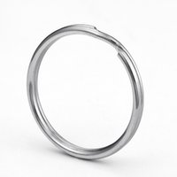 Wholesale Little Girl Silver Rings - 50pcs Wholesale Various Size Metal Keyring Nickel Plated Split Key Rings Findings Round Keychain & Key Rings Fit Key Chain Little Size