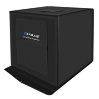 estudios kit al por mayor-PULUZ 60 * 60cm 24 pulgadas portátil mini caja de estudio de la foto caja de luz 30W 5500LM luz blanca foto estudio de iluminación Shooting Tent Box Kit