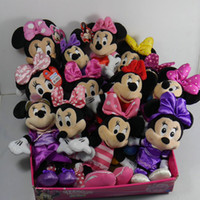 """Wholesale Pink Hand Cushion - Wholesale- IN HAND NEW Original Classic Mickey Minnie Mouse Bow-tique 8"""" 20CM 9"""" Stuffed Plush doll FREE SHIPPING BEST GIFT XMAS"""