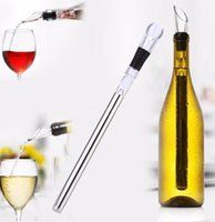 Wholesale Wholesale Air Cooler - 2017 Wine Cooling Stick with Spout Pourer Corkcicle White Red Wine Chiller Stick Air Aerator Wine Pourer with Chill Rod BJ001