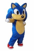 Wholesale Sonic Hedgehog Costume Adults - 2017 brand new High Quality Sonic the Hedgehog cartoon mascot costumes Halloween party Fancy Dress school team sport Adult