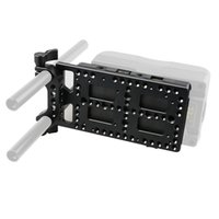 Wholesale V Mount Plate - CAMVATE V Lock Mounting Plate Power Supply Splitter with 15mm Rod Clamp