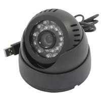 Wholesale Cheap Night Vision Security Cameras - Cheap Mini Usb Home Security Camera Camcorder 24 Leds IR Dome Night Vision Surveillance CCTV Cameras High Quality
