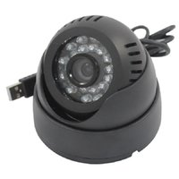 cheap dome security cameras al por mayor-Mini videocámara de la cámara de seguridad del usb barato 24 Leds IR Dome Night Vision Surveillance CCTV Cameras High Quality
