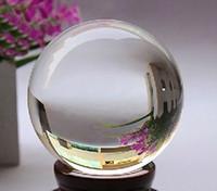 bolas de diamantes de imitación de 12 mm al por mayor-100mm + Soporte Cuarzo Natural Raro Natural Clear Magic Curación esfera Bola de Cuarzo