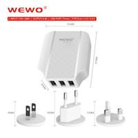 carregador britânico para ipad venda por atacado-Micro usb carregador de parede pacote de varejo portátil us plug usb carregador adaptador de energia 3 em 1 UE uk plug carregamento rápido para iphone ipad celular