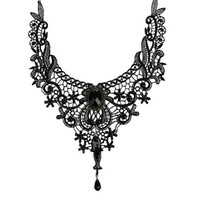 Wholesale Necklace Bib Gems - Fashion Necklaces For Women Beauty Girl Handmade Jewerly Gothic Retro Vintage Lace Necklace Collar Choker Necklace bib gem chain