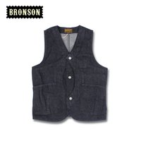 Wholesale Magic Vest - Wholesale- 2016 Bronson Denim Magic Pocket tool vest men's tide vest pocket Vests