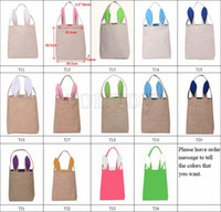 Wholesale gift baskets buy cheap gift baskets in bulk from chinese wholesale gift baskets new styles easter bunny ear bags diy embroider cotton linen basket bag negle Gallery