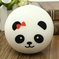 Wholesale Squishy Emotional Buns - 4Pcs Panda Mobile Phone Straps Squishy Kawaii Buns Bread Charms Key Chain Key Bag for Cell Phone Emotional venting tool