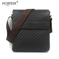 Wholesale Small Messenger Satchel - Wholesale- HORYEER sacoche homme Business Man's Small Messenger Bags Polo Crossbody Bags Small POLO Brand Man Satchels Travel Shoulder bag