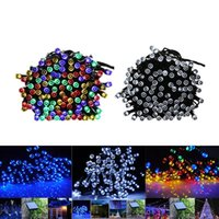 Wholesale Solar Led 12m - 100 LED 200 LED Outdoor 8 Modes Solar Powered String Light Garden Christmas Party Tree Lamp 12M 22M LED Flash Fairy String Lights