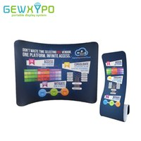 Wholesale Roll Up Banner Display Stand - 10ft*7.5ft Tradeshow Portable Display Curve Stretch Tension Fabric Backwall With Snake Banner Stand(Include One Side Printing)