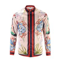 Wholesale Hot autumn winter hawaiienne medusa dog rose gold chain fashion retro flower printed shirt sweater shirt when people luxury brand