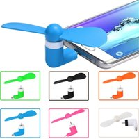 Wholesale Mini Portable Usb Fan - Mini USB Fan With Package 5Pin Flexible Portable Super Mute Cooler Cooling For Android Phone Iphone 6S Plus Ipad