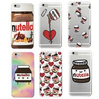 Wholesale Iphone Cover Case Chocolates - Italian Cute Nutella Chocolate Sauce Soft Cover Skin Transparent Soft Cases for iPhone 5 6 Plus 7 Plus iphone 8 8Plus X