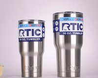 Wholesale RTIC Tumbler oz oz RTIC Cups Cars Beer Mug Large Capacity Mugs With Vacuum Double Wall Keep Cool or Hot