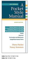 Wholesale English Manual - 2017 New A Pocket Style Manual, APA Version 7th Edition Books Book ISBN-13: 978-1319011130