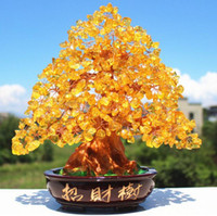 Wholesale Feng Shui Tree - Modern creative household adornment personality furnishing articles Medallion natural crystal rich tree