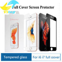 Wholesale Round Glass Cover - 3D Round Edge full cover Screen Protector Drop Proof HD Clear Tempered Glass for iPhone 6 6s plus 7 7 plus Black white Gold Rose Gold