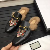 Wholesale tiger animal plush - leisure slippers for men,a fashion trend ,made from genuine leather , decorated with gold buckle and tiger prints