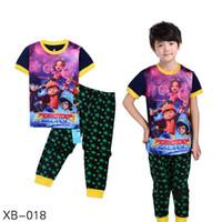 Wholesale Pijamas Boys - 2017 kids Boboi-boy clothes baby boys girl clothing sets toddler 2 pieces pajamas sets children spring summer pijamas XB-018