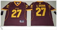 Wholesale College Football Games - Central Michigan Chippewas #27 Antonio Brown American College Football Stitched Embroidery Mens Game limit Pro team Sports Jerseys Sz S-XXXL
