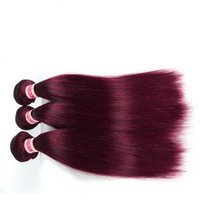 Wholesale High Quality Malaysian Virgin Hair - High quality 99j brazilian virgin hair 3pcs a lot burgundy color remy human hair weave free shipping