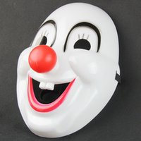 Wholesale Masquerade Mask Nose - Children's Day Masquerade clown red nose movie clown mask plastic clown mask