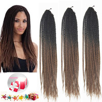 Wholesale Cheap Braiding Prices - 14inch Brown Ombre Synthetic Twist Braiding Hair Extensions Crochet Xpression Kanekalon Braiding Hairstyle 100G PC Cheap Price